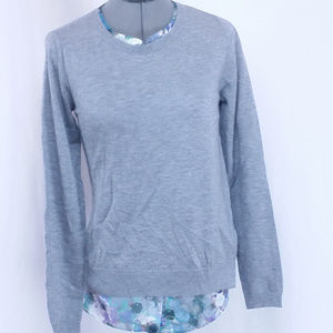 NYDJ Floral Gray LS Top PS